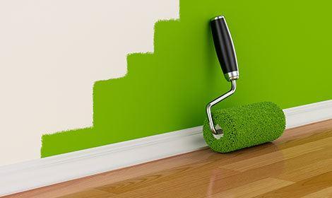 muur groen laten verven