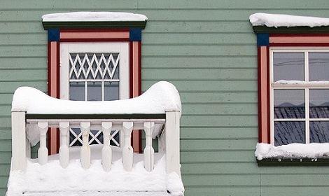 schilderen in de sneeuw